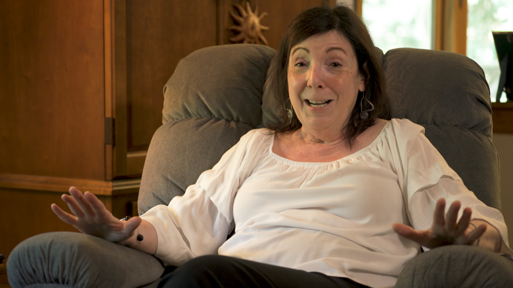 Kathy Briseno in the Golden Lift Recliner in her home