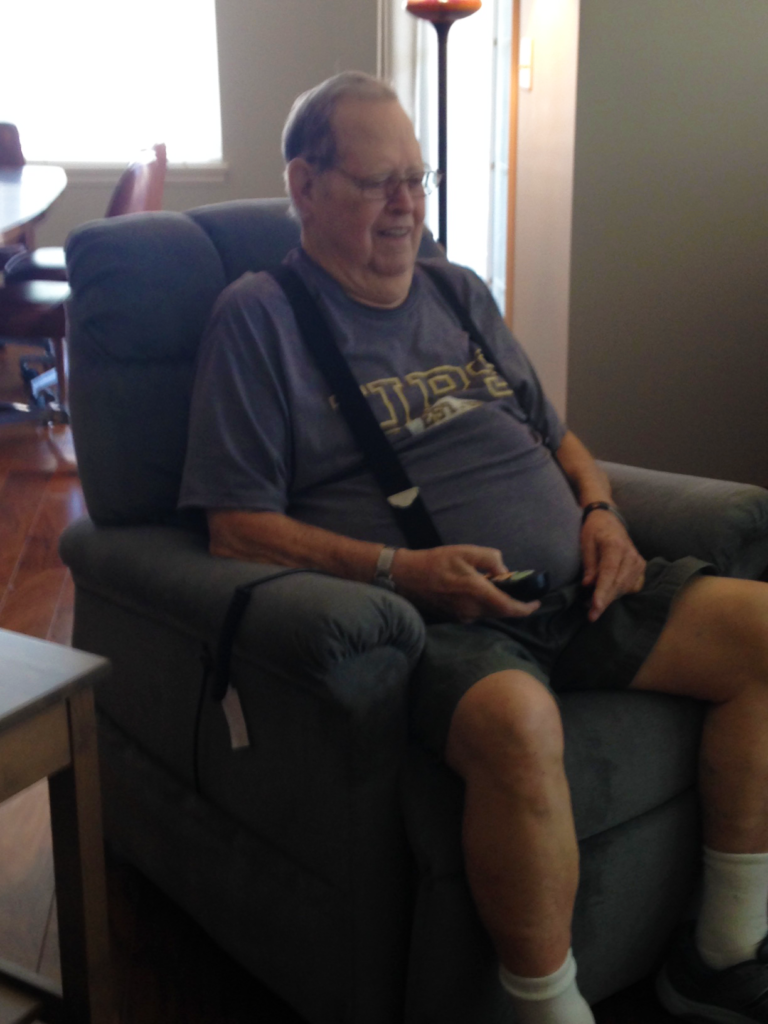 Vietnam Veteran in Golden Lift Recliner