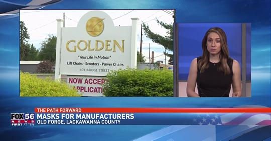 Golden Donates Masks To Local Manufacturers