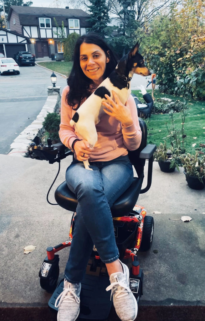Anna Giannakouros Outdoors with her Golden LiteRider Envy Power Wheelchair