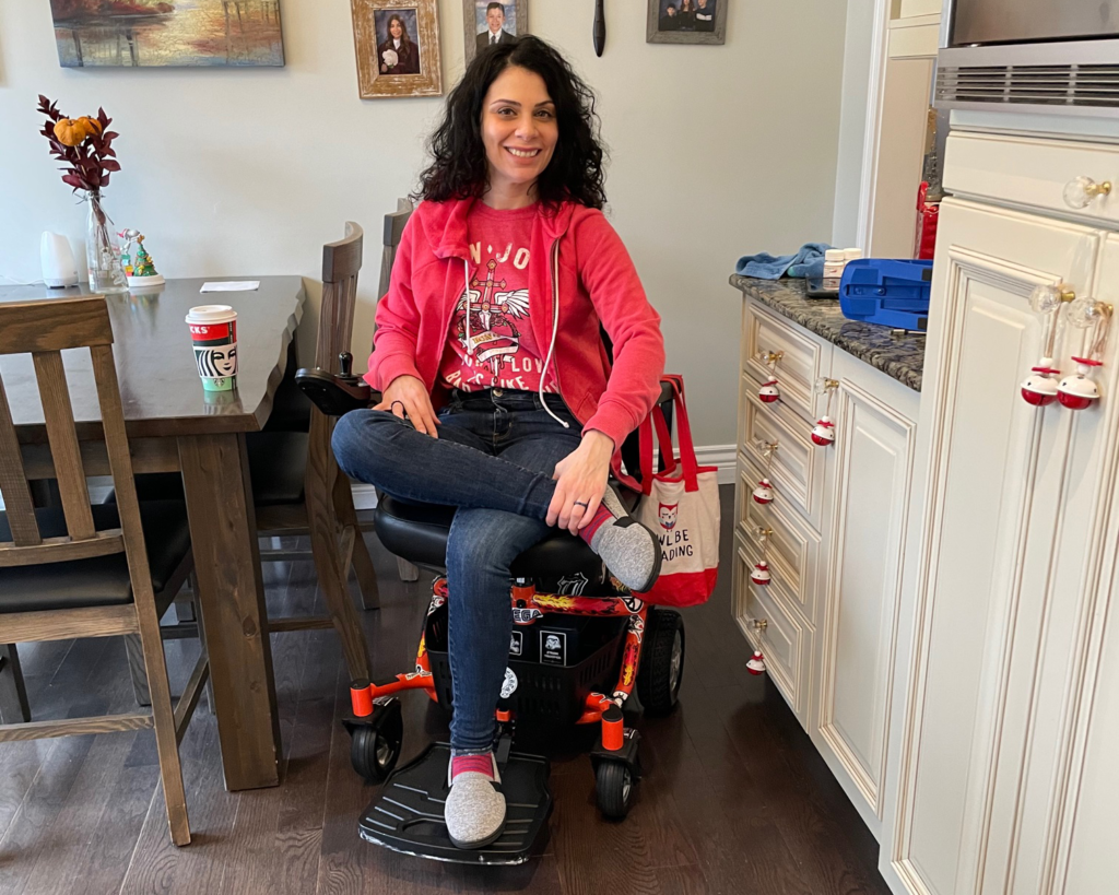 Anna Giannakouros on her Golden LiteRider Envy Power Chair