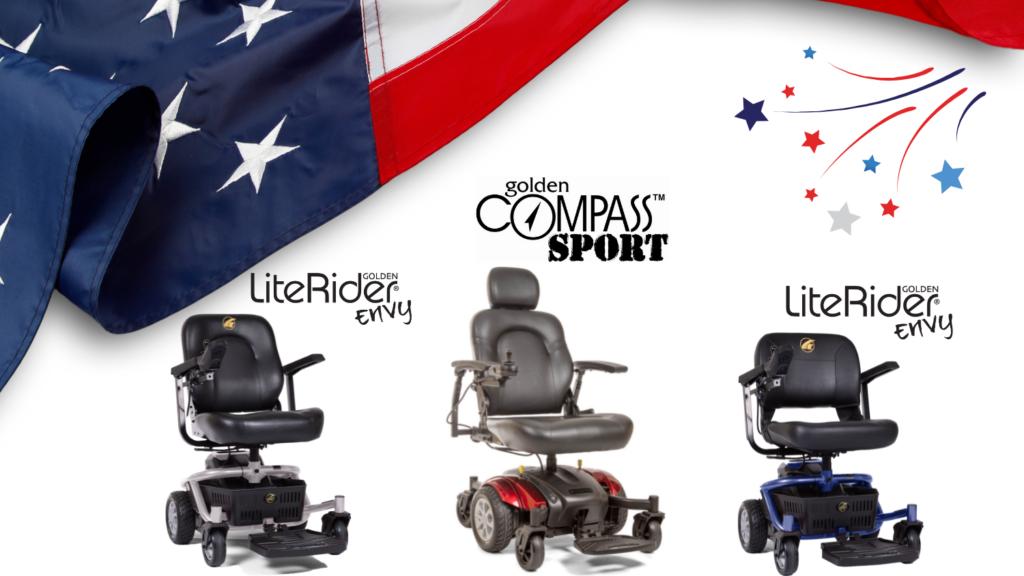 Golden Technologies LiteRider Envy and Compass Sport Power Wheelchairs