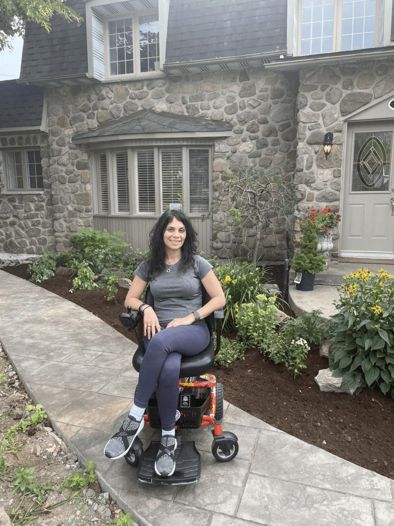 Anna Giannakouros on her Golden LiteRider Envy Power Wheelchair
