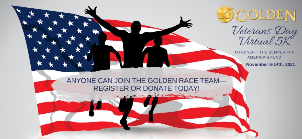 Golden Veterans Day Virtual 5K Fundraiser 2021